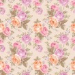 Seamless pattern with vintage roses — Stock Vector #37648709