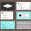 Set of elegant business cards — Stock Vector