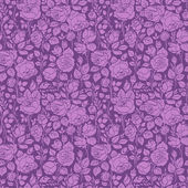 Purple vintage seamless pattern with garden roses — Stock Vector