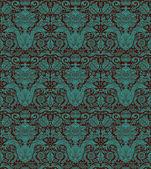 Vintage seamless pattern emerald Baroque — Stock Vector