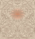 Vintage brown seamless pattern baroque — Stock Vector