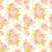 Seamless pattern with vintage roses — Stock Vector