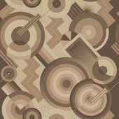 Seamless geometric pattern in retro style Art Deco — Vettoriale Stock