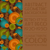 Geometric background in the style of Art Deco — Stock Vector