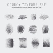 A set of grungy textures. — Stock Vector