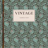 Vintage kartı ile stilize krizantem — Stok Vektör