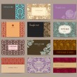 Set of vintage business cards. Twelve pieces. — Vector de stock  #37651009