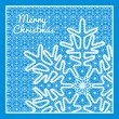Beautiful vector Christmas card with vintage lace snowflake style handmade lace. — Stock Vector #37652199