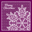 Beautiful vector Christmas card with vintage lace snowflake style handmade lace. — Stock Vector #37652325