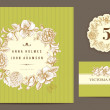 Set backgrounds to celebrate the wedding. — Stock Vector #37655915