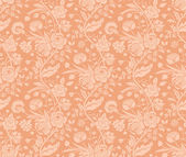 Pastel seamless pattern with a vintage flower bouquets carnations and chrysanthemums — 图库矢量图片