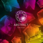 Abstrato colorido com gemas brilhantes. — Vetorial Stock