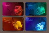 A set of discount cards with precious stones — Stock Vector
