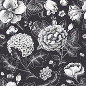 Beautiful vintage floral seamless pattern. — Stock Vector