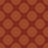Seamless vector vintage terracotta pattern with copper stylized baroque elements — Stock Vector