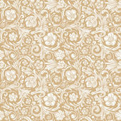 Vintage classic ornamental seamless vector pattern in baroque style. — Stock Vector