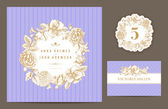 Set backgrounds to celebrate the wedding. — Stock Vector