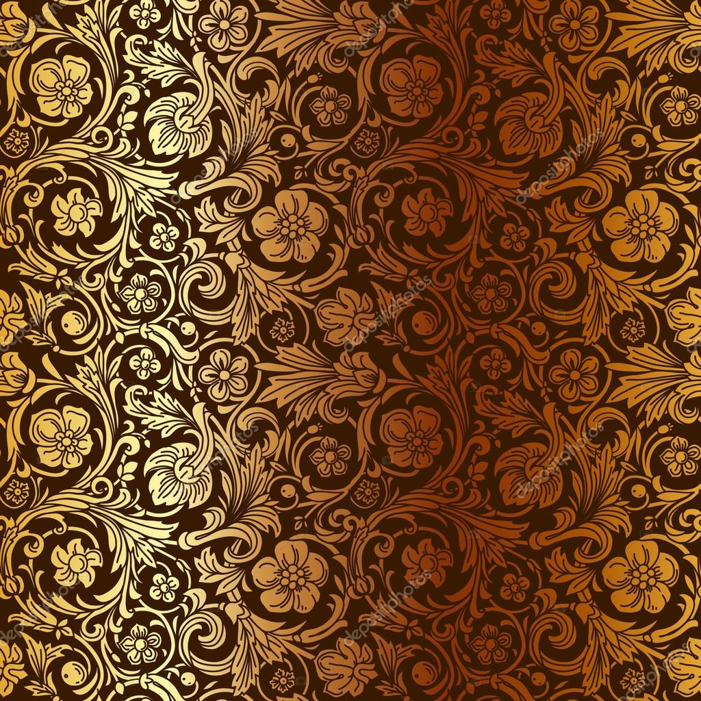 Vintage classic ornamental seamless vector pattern in for Baroque fashion trend