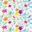 Colorful seamless vector floral pattern. — Stock Vector #38120873