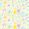 Seamless pastel flower pattern — Stock Vector #38120917