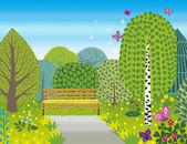 Spring bright vector landscape — Wektor stockowy