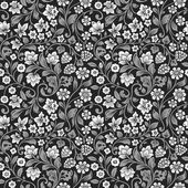 Vector seamless vintage floral pattern — Stock Vector