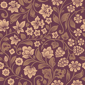 Vector seamless vintage floral pattern. — Stock Vector