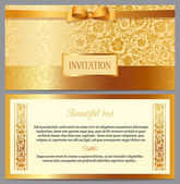 Vintage luxury horizontal invitation — Stock Vector