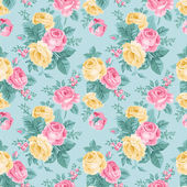 Seamless vintage floral pattern — Stock Vector