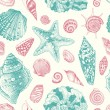Vector seamless vintage pattern — Stock Vector