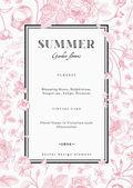 Summer vertical vector vintage card — Stock Vector
