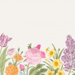 Summer floral vintage vector background. — Stock Vector #46965549