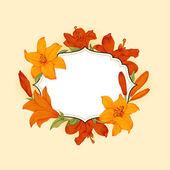 Vintage floral frame — Stockvector