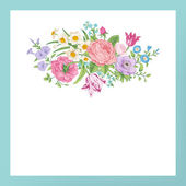 Vintage floral vector card — Stock Vector