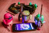 Android služba, opravy smartphone — Stock fotografie
