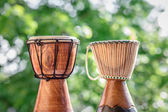 Two Djembe Drums — Stock Photo