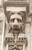 Sculpture of a lion from the dome in Milan — Stock Photo