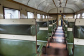 Interior of an antique Dutch train wagon — Stock Photo
