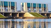 Water lock system to the Dutch wadden sea — Стоковое фото