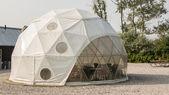 Futuristic igloo pavilion — Stock Photo
