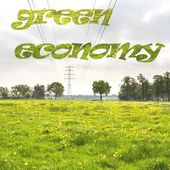 Green economy background — Stock Photo