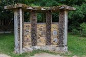 Bee house in a public park — Stock Photo
