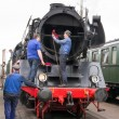 Editorial use only. Maintenance on historic steam train. — Stock Photo #39515873