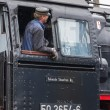 Editorial use only. Maintenance on historic steam train. — Stock Photo #39515875
