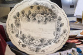 Traditional Delft blue plates — 图库照片