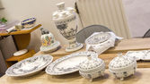 Traditional Delft blue plates — Stock Photo