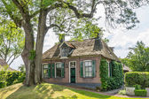 Cozy historic cottage in Dwarsgracht Holland — Stock Photo