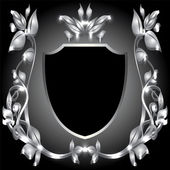 Coat of arms silver monogram — Vetorial Stock