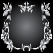 Silver monogram — Stock Vector