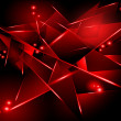 Abstract black background with red geometric shapes — Stock Photo #41089997